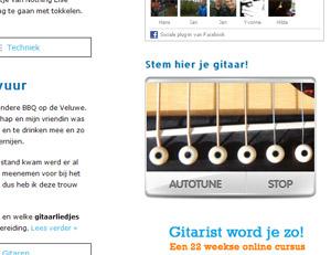 Guitartuner Gitaarlesvankoen.nl